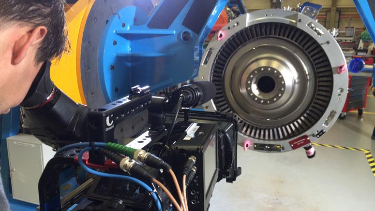 Dreharbeiten bei MTU Aero Engines AG